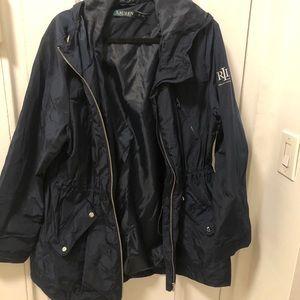 Ralph Lauren Navy Blue Rain Windbreaker Jacket